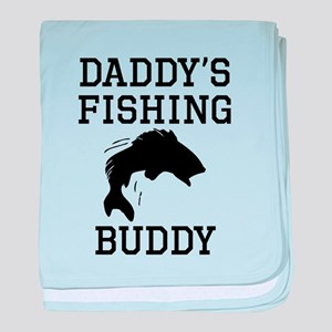 Daddys Fishing Buddy baby blanket